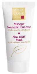 """NEW YOUTH MASK Maska nobriedušai ādai, kas izlīdzina grumbiņas un ādas līnijas. Tā sastāvā esošā hialuronskābe piepilda grumbiņas, bet Hydrosmose komplekss izlīdzina dziļās līnijas, atjaunojot mitruma līmeni ādā. """"Cellular Life"""" jeb """"jeb šūnu dzīvības koncentrāts stimulē šūnu darbību, veidojot jaunākas ādas izskatu, kas tiek panākts ar šūnu reģenerāciju, palielināšanos un ilgstspēju. Šūnu dzīvības koncentrāts sastāv no dārgmetālu elementiem, kas ir būtiski šūnu dzīvei: 20 aminoskābes, 10 vitamīni, 19 bioloģiskie aģenti un 7 minerālsāļi. 10 minūtēs āda tiek izlīdzināta, seja kļūst enerģijas pilna, ādas tonis kļūst mirdzošāks un āda izskatās manāmi jaunāka."""